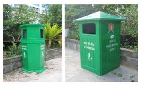 Thùng rác trang trí công viên